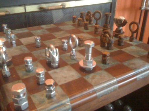 Steampunk Heavy Metal Chess Set (detail)